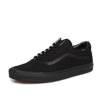 Vans Old Skool Mens Womens Black Trainers Uk 8