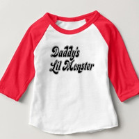 Kids Daddy's Lil Monster Raglan Tee