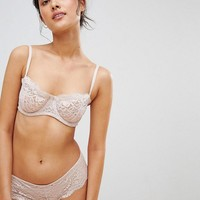 Icone Topaze Lace Balconette Bra & Thong Set at asos.com