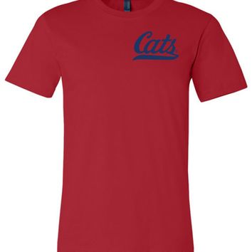 Official NCAA Venley University of Arizona Wildcats U of A Wilber Wildcat BEAR DOWN! Cats Baseball Tail Unisex T-Shirt - 12UA-1-a