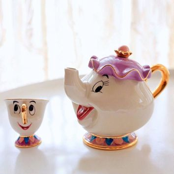 1pc Beauty And The Beast Teaset