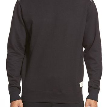 Men's BellField Crewneck Sweatshirt with Shoulder and Elbow Patches,