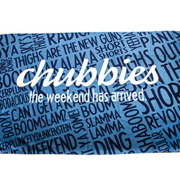 Chubbies Box Print Flag