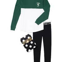 Michigan State Pocket Varsity Crew and Leggings Gift Set - PINK - Victoria's Secret