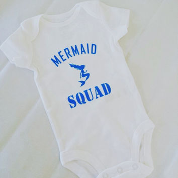 Mermaid Squad Baby Bodysuit.