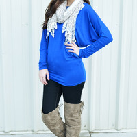 Casually Comfy Piko Tunic: Royal Blue