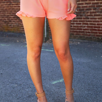 Pretty In Pink Ruffle Shorts