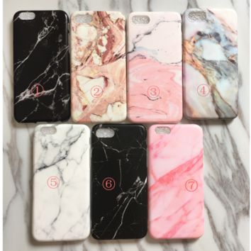 Marble pattern Creative iPhone 6s phone case iPhone7 Plus Frosted soft protective cover