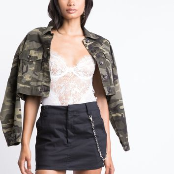 Downtown Chained Mini Skirt