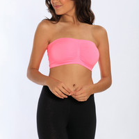 Miami Style® - Bandeau Bra with Center Ruching