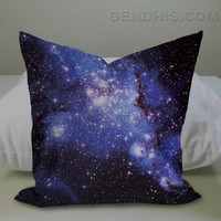 Blue Galaxy Case, Pillow Cover, Custom Pillow Case