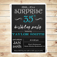 Surprise Birthday Invitations & Adult Birthday Invitations Editable Text Adobe Reader, 30th Surprise Birthday Party, DIY Party Invitation
