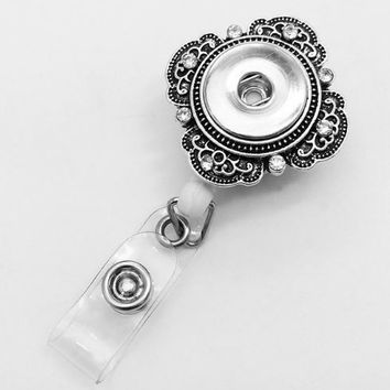 Snap Retractable Badge Holder 18mm-20mm Snaps (Clip Attachment)