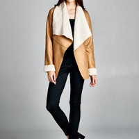 FAUX SUEDE JACKET OF THE YEAR!! Camel