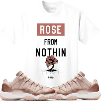 Jordan 11 Rose Gold Sneaker Tees Shirt Match - ROSE NOTHING