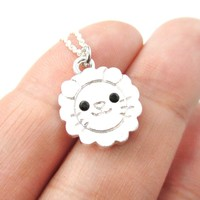 Lion Shaped Adorable Animal Inspired Pendant Necklace in Silver | DOTOLY
