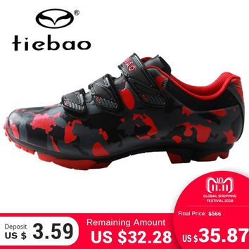 TIEBAO New Arrival Men Women MTB Cycling Shoes Sapatilha Ciclismo Mtb Outdoor Mountain Bike Shoes Bicycle Shoes SPD Cleat