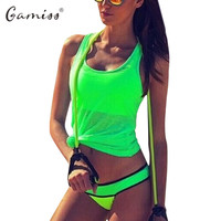 Gamiss Women Active Slim Fluorescence Tank Top Fitness Tanks Camisole Workout Gym Yoga Running Vest Tank Sport Shirt Basic Camis