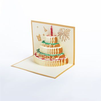 Papercutting Greeting Card - Happy Birthday Cake *+* 💝🎂🍰📸 +*+*