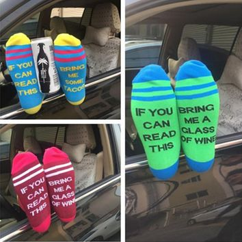 Candy color in the tube warm cotton socks personalized soles printed foot socks men and women universal