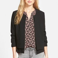 Women's Gibson Collarless Layered Front Jacket,