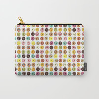 Eat all the donuts Carry-All Pouch by Estef Azevedo