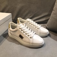 Dolce & Gabbana D & G Portofino Sneakers In Nappa Calfskin With Patches Cs15875268i675 - Best Online Sale