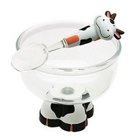 Harold Import 58444 Cow Ice Cream Bowl & Spoon