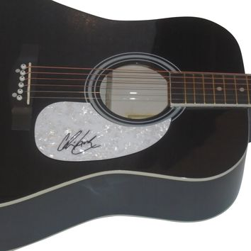 Chris Lane Autographed Full Size 41 Inch Country Music Acoustic Guitar, Proof Photo