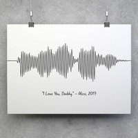 Custom Sound Wave, Sound Wave Print, Voice Wave Print, Sound Wave Art, Personalized Wave, Soundwave Art, Custom Wave, Voice Wave, Sound Wave