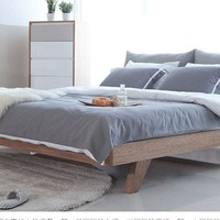 Home wood bed 1.5m/1.8m double bed with mattress wholesale hot