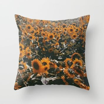 Sunflowers Throw Pillow by Emma