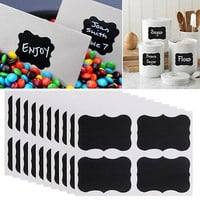Hot Sell 36Pcs 3 Size Black Chalk Pen Chalkboard Sticker Cup Bottle Planner Mirror Decor Decals Tags Labels Kitchen Jar Wall