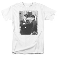 BLUES BROTHERS/BRICK WALL - S/S ADULT 18/1 - WHITE - XL - WHITE -
