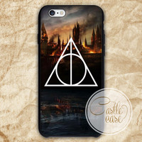 Harry Potter Deathly Hallows phone case iPhone 4/4S, 5/5S, 5C Series, Samsung Galaxy S3, Samsung Galaxy S4, Samsung Galaxy S5 - Hard Plastic, Rubber Case
