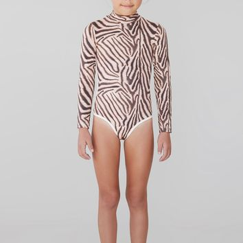 ACACIA Honey Swimwear 2019 Ehukai One Piece in Zebra (Kids)
