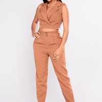 Thrive Pant Set - Mustard