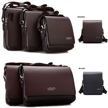 Men's Genuine Leather Bags Casual Messenger Shoulder Briefcase Bags