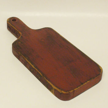 Wood Candle Paddle, Decorative Cutting Board, Country Butter Board, Primitive Painted Riser