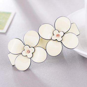 Sweet French hair barrettes flower Acrylic hairpins cellulose acetate hair clip hair accessaries perfect gift for women clasp