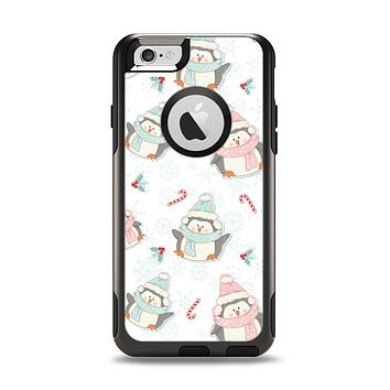 The Christmas Suited Fat Penguins Apple iPhone 6 Otterbox Commuter Case Skin Set
