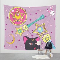 Sailor Moon Wall Tapestry by MyimagesArt