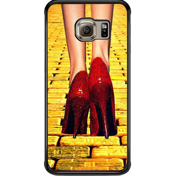 Yellow Brick Road Dorothy Wizard of Oz Inspired Cute Ruby Red For Samsung Galaxy S6 Edge Case **
