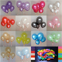 100 pcs 10 inch plain latex balloons  Wedding Birthday Party Decorations = 1933041668