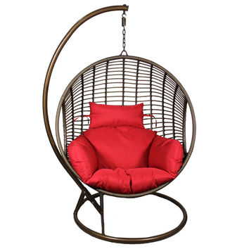 Attractive Pe Rattan & Steel Frame Hanging Chair