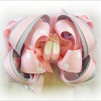 Boutique hair bow, Ballet hair bows, Ballerina bow, Birthday hair bows, Over the top bow, Boutique stacked bow, Hair bows for girls