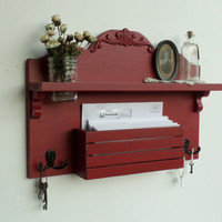 NEW .....French Cottage Mail and Key Holder ...Organizer.....Smoked Paprika