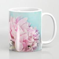 3 peonies Mug by Sylvia Cook Photography