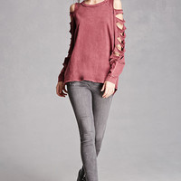 Distressed Ladder-Cutout Top