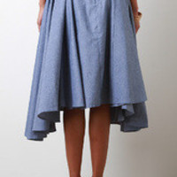 Chambray Button Up Skirt